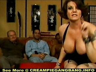 5:06 - White Trash Creampie Gangbang -