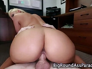 7:14 - Huge ass pov blonde takes cock -