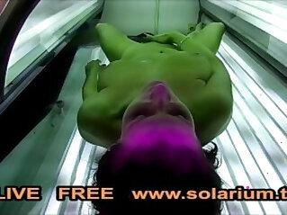 0:00 - Hot Horny Girl masturbates in Public Solarium Spy Hidden Voyeur Cam -