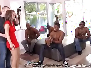 2:13 - Sexy hot milf gets BBC gangbang and DP -