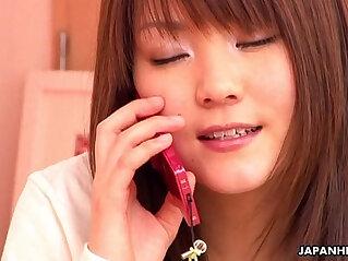10:54 - Japanese school girl having phone sex -