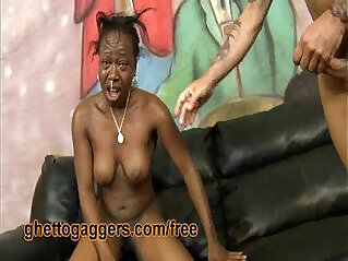 4:16 - Ebony Flo Is Throated And Slammed By White Dicks -