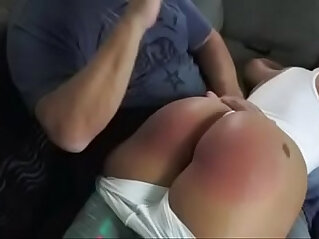 13:28 - Mouthy Latina Spanked Hard OTK -