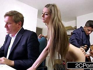 8:54 - Sneaky skinny bastard fucks bosss wife and daughter tarra white leyla morgan -