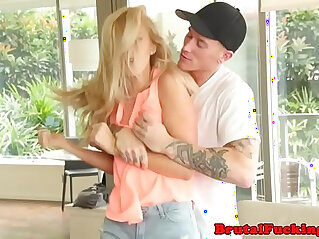 9:26 - Amateur blonde teen cockriding in roughsex action -