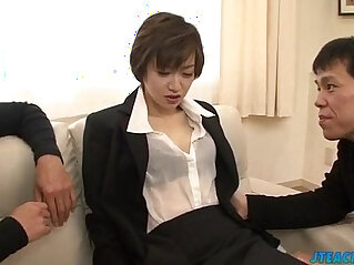 10:00 - Great office xxx play for lustful Akina Hara -
