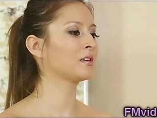 5:14 - Beautiful brunette bathtub sucking -
