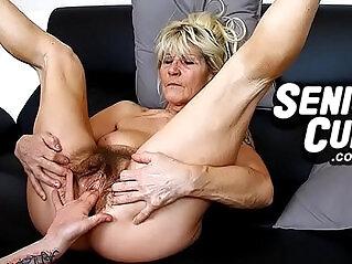 6:08 - Closeups of very old hairy vagina of granny Linda -