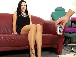 12:04 - Fakeshooting Stunning babe takes a big cock cumshot -