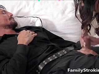 7:06 - Daughter Blowjob While Step Dad Sleeps -
