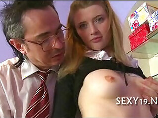 5:44 - Old master is taming cute asian chick -