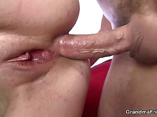 6:25 - Mature gets throat and ass banged -