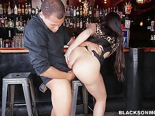 5:42 - Bartender is a black cock slave -
