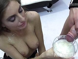 10:56 - Premium Bukkake Nona swallows huge mouthful cum loads -