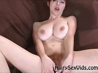 5:37 - Big tits plays with hairy pussy maturbating -