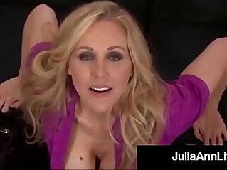 11:39 - Smoking hot mommy julia ann gives a pov blowjob and footjob -