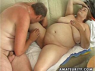 12:12 - Chubby mature amateur sucks fucks -