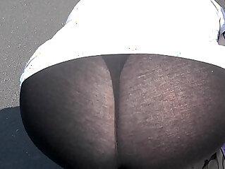 1:30 - Wife in her see through leggings HD -