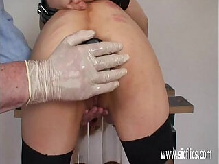 5:39 - Extreme double fisting for masochistic slave -