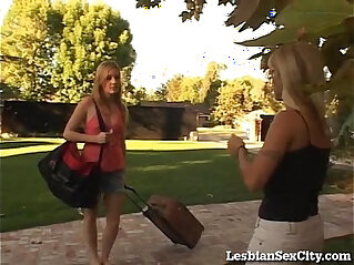 7:22 - Young brunette Teen hottie Gets Seduced By Horny Blonde Cougar -