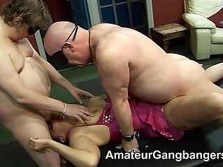 6:41 - Older men lick and fuck younger women -