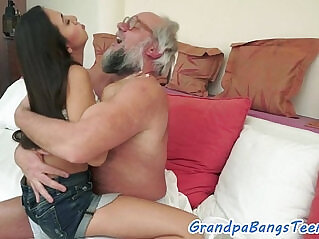 6:04 - Teen fucked by geriatrics cock from behind -