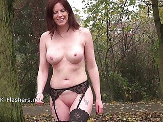 8:57 - Redhead Holly Kiss flashing in public and outdoor masturbation of exhibiti -