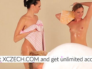 23:17 - Two beautiful lesbians in the gummy pool -