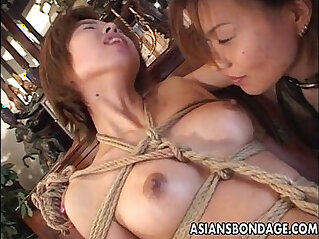 8:42 - Bound Japanese cutie fingered by a horny mistress -
