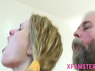 22:12 - Old young fuck cumshot on chest of young tiny lolita stepdaughter -